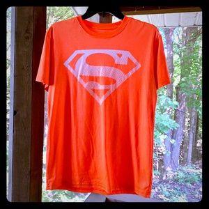 Men's Medium Orange Superman DC Comics T-Shirt